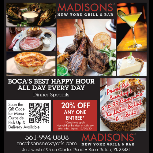 Madison's New York Grill & Bar Specials & Happy Hour