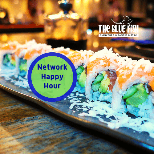Happy Hour Network at The Blue Fish Boca in Mizner Park