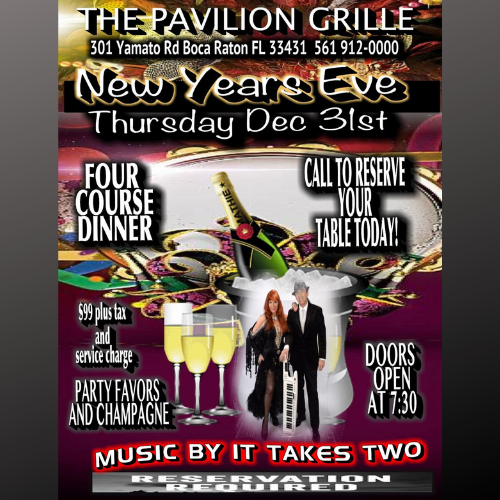 New Years Eve at The Pavilion Grille