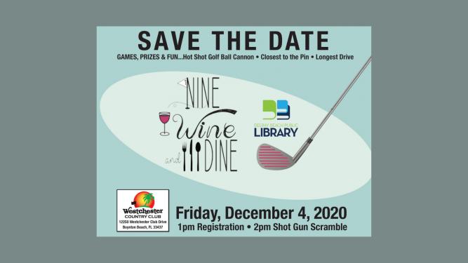 Delray Beach Public Library's Nine, Wine & Dine Fundraiser