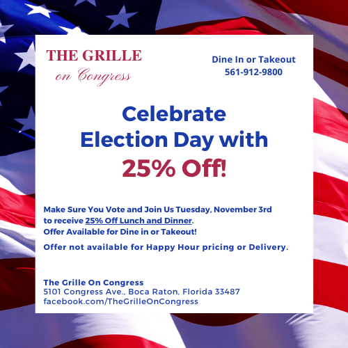 25% Off at The Grille On Congress