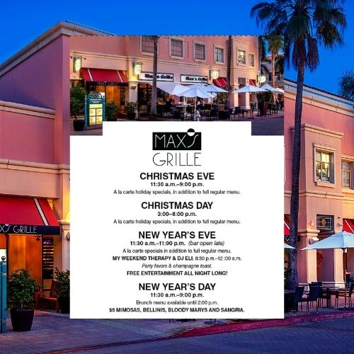 Max's Grille Christmas and NYE Happenings