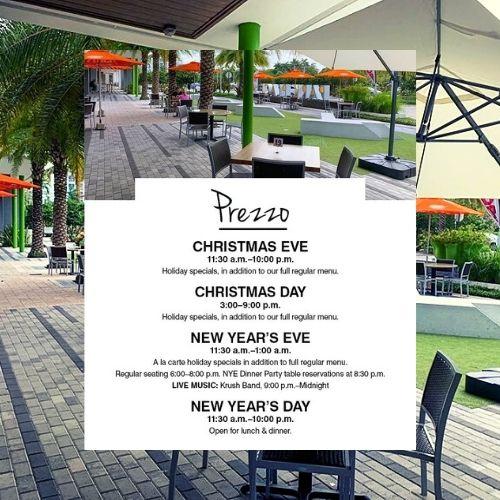 Prezzo Christmas and NYE Happenings