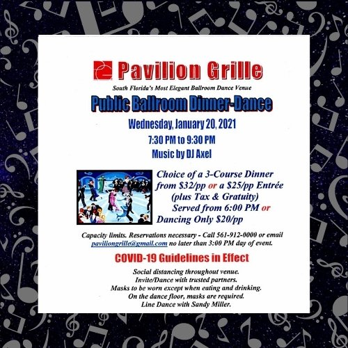 Pavilion Grille Dinner and Ballroom and Latin Music Night