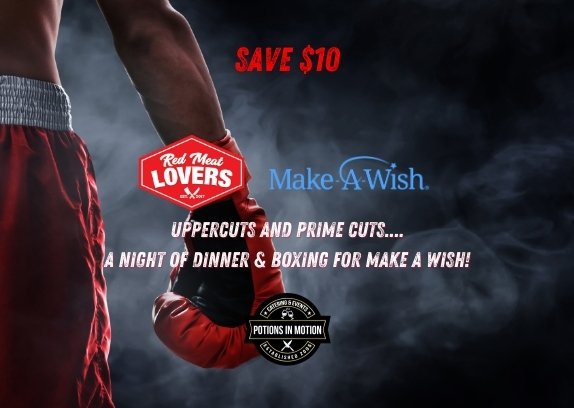 Save $10 Uppercuts and Prime Cuts.... A Night of Dinner & Boxing for Make A Wish