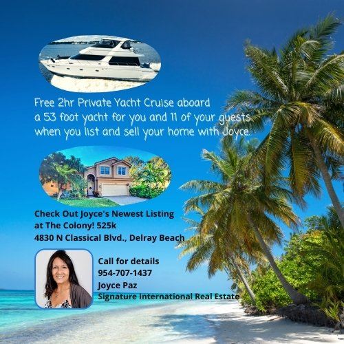 Free 2hr Private Yacht Cruise with Home Sale