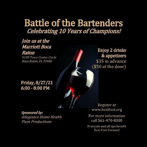 Battle of the Bartenders Benefitting Best Foot Forward