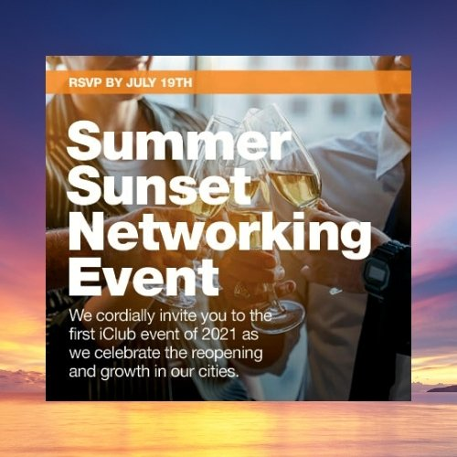iClub Summer Sunset Networking Event at Funky Biscuit
