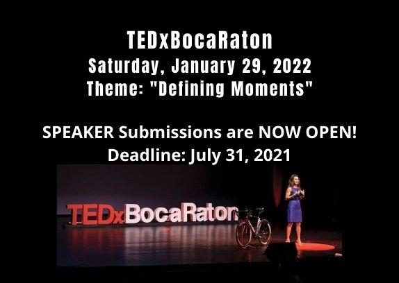 TEDx Boca Raton - Speaker Submissions