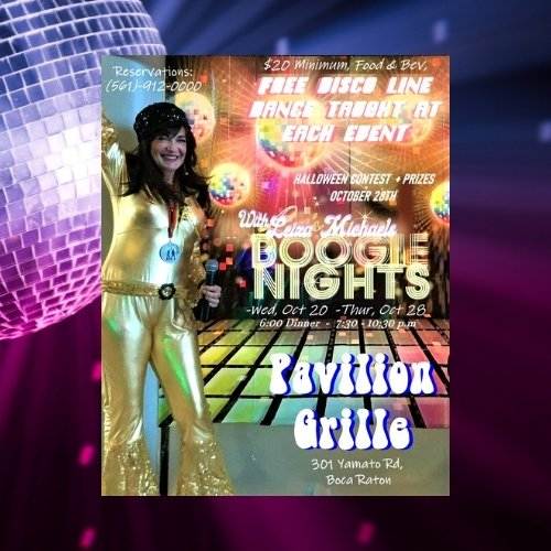Boogie Nights DISCO FEVER with Leiza Michaels at Pavilion Grille Boca Raton